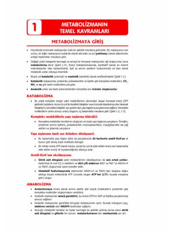 TUS Şampiyonların Notu - BİYOKİMYA ( Genel )