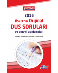DUS SORULARI - ÖSYM'nin Orijinal 2016