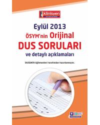 DUS SORULARI - ÖSYM'nin Orijinal EYLÜL 2013