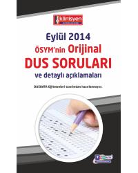 DUS SORULARI - ÖSYM'nin Orijinal EYLÜL 2014