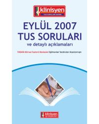 Eylül 2007 Açıklamalı Tus Soruları