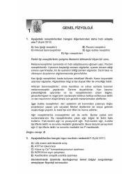 OPTİMUM SORULARI ( 6.Baskı ) FİZYOLOJİ